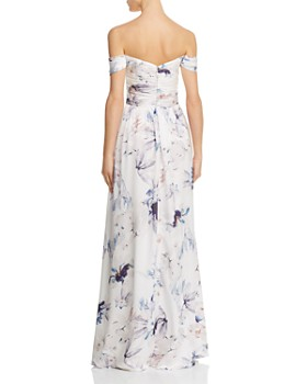 Bariano - Shelley Off-the-Shoulder Floral Gown - 100% Exclusive