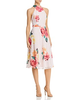 Laundry by Shelli Segal - Floral High-Neck Dress