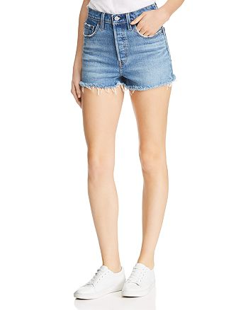 Levi's - Rib Cage Cutoff Denim Shorts in Urban Oasis