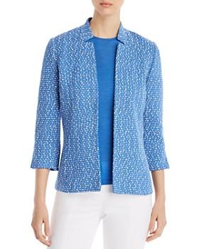 9a927b30b St. John - Notched Stand Collar Tweed Jacket ...