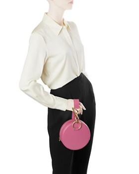 Tara Zadeh - Medium Round Leather Clutch