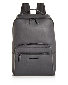 Salvatore Ferragamo - Revival Coated Leather Backpack