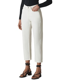 Whistles - Hollie Cropped Straight Jeans in White
