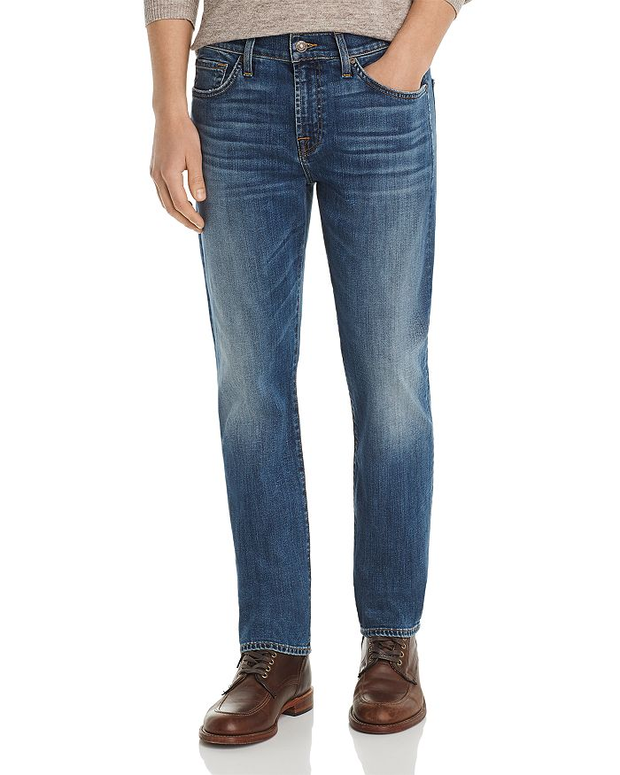 7 For All Mankind Slim Straight Fit Jeans In Swain