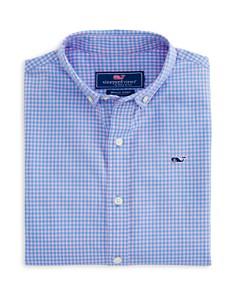 Vineyard Vines - Boys' Gingham Whale Dress Shirt - Little Kid, Big Kid