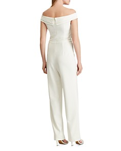 Ralph Lauren - Off-the-Shoulder Crepe Jumpsuit
