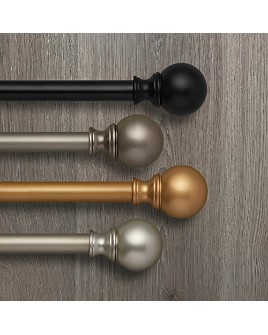 Elrene Home Fashions - Cordelia Adjustable Curtain Rods with Ball Finials
