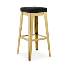 Modway - Modway Arrive Stainless Steel Upholstered Velvet Bar Stool
