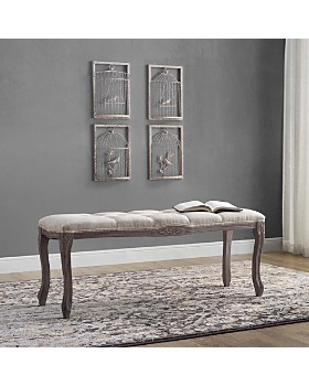 Modway - Regal Vintage French Upholstered Fabric Bench