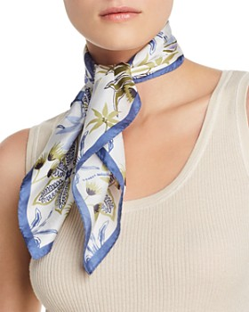 Echo - Jungle Botanical Silk Scarf