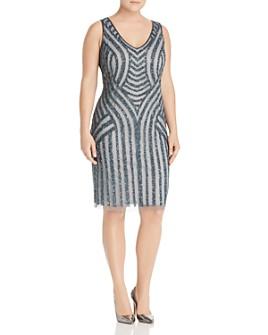 Adrianna Papell Plus - Embellished Pattern Sheath Dress
