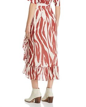 Anine Bing - Lucky Zebra-Print Wrap Skirt