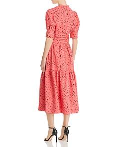 Rebecca Vallance - Holliday Belted Dot-Print Dress