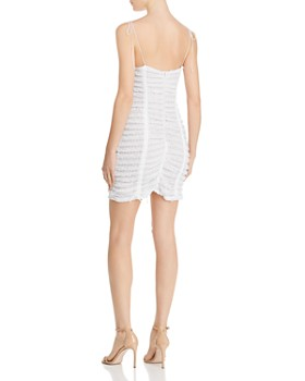 For Love & Lemons - Fondant Ruched Lace Dress