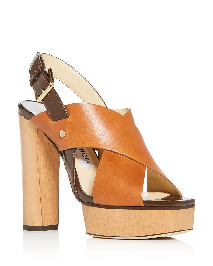 Jimmy Choo - Women's Aix 125 High Block-Heel Platform Sandals