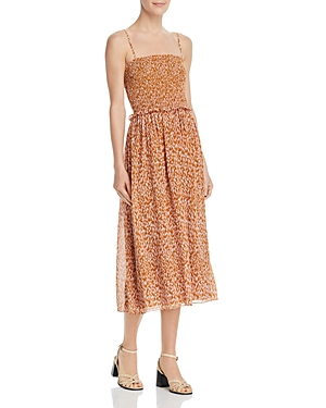 Joie Dresses AMBROISE SMOCKED SILK DRESS