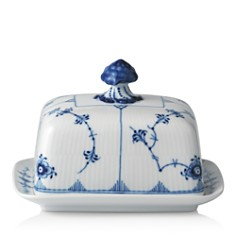Royal Copenhagen - Blue Fluted Plain Butter Dish