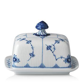 Royal Copenhagen - Blue Fluted Plain Butter Dish