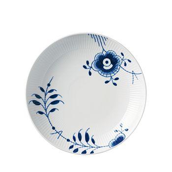 "Royal Copenhagen - Blue Fluted Mega 9.75"" Shallow Bowl"