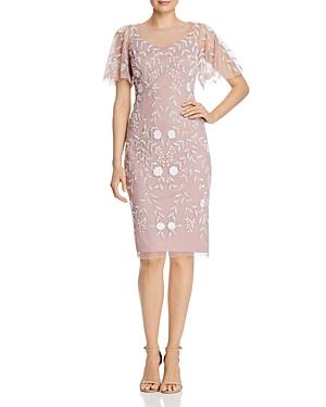 1920s Flapper Dresses, 20s Costumes in Australia Adrianna Papell Beaded Flutter-Sleeve Sheath Dress AUD 389.14 AT vintagedancer.com