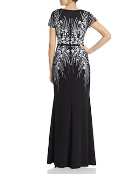 2e5d471c8f74 Adrianna Papell - Floral Beaded Gown Adrianna Papell - Floral Beaded Gown
