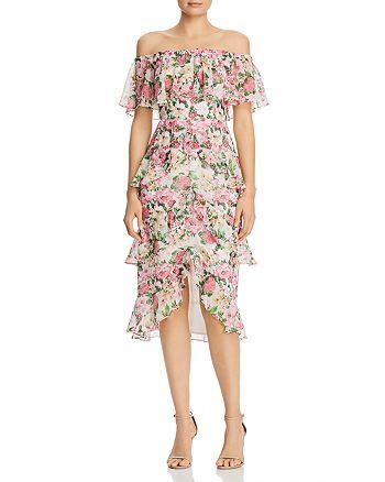 WAYF - Eliza Ruffle Midi Dress