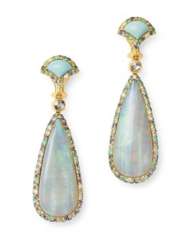 JOHN HARDY - 18K Gold Cinta Naga Sorga One-of-a-Kind Reversible Drop Earrings with Diamonds & Gemstones - 100% Exclusive