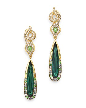 JOHN HARDY - 18K Gold Cinta Ular Pertiwi One-of-a-Kind Cobra Drop Earrings with Diamonds & Gemstones - 100% Exclusive