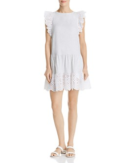 Rebecca Taylor - Agatha Eyelet-Lace-Trimmed Dress