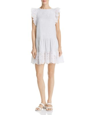 Agatha Eyelet Lace Trimmed Dress by La Vie Rebecca Taylor