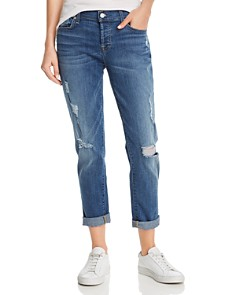 7 For All Mankind - Josefina Skinny Boyfriend Jeans in Radntpier