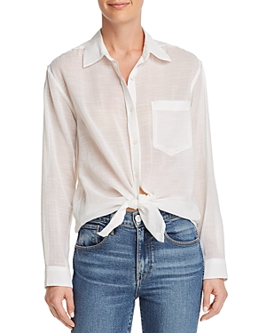 7 For All Mankind T-shirts KNOT-FRONT BUTTON-DOWN SHIRT