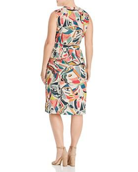 Lafayette 148 New York Plus - Pammie Sleeveless Linen Wrap Dress