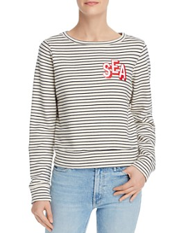 MOTHER - The Matchbox Striped Sweatshirt