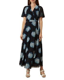 HOBBS LONDON - Hydrangea Maxi Wrap Dress