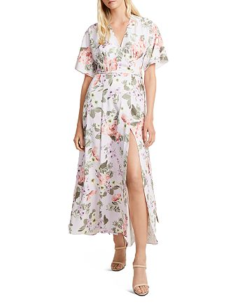 FRENCH CONNECTION - Arimoise Faux-Wrap Floral Dress