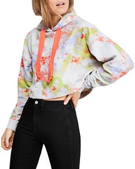 Free People - Thinkin About You Tie-Dye Cropped Sweatshirt