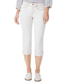 NYDJ - Marilyn Cuffed Cropped Jeans in Feather