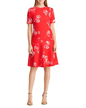 Ralph Lauren - Jacquard Crepe Floral Dress