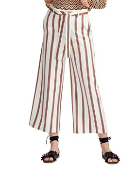 Maje - Pomala Striped Cropped Wide-Leg Pants
