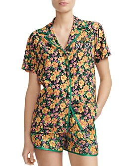 Maje - Cikael Piped Floral-Motif Shirt