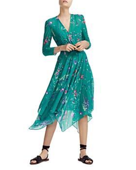 c0cbc4ae1 Maje - Smocked Floral-Print Midi Dress ...