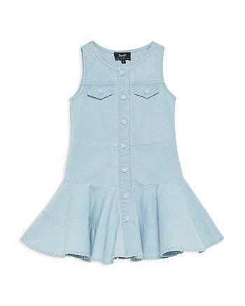 Bardot Junior - Girls' Girls' Alice Denim Flared Dress  - Little Kid