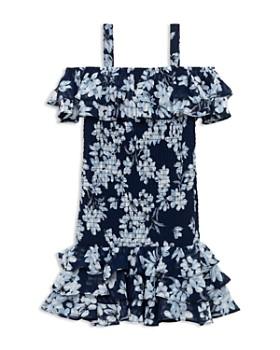 Bardot Junior - Girls' Lola Floral Print Cold-Shoulder Dress - Little Kid