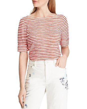 Ralph Lauren - Striped Boat-Neck Top