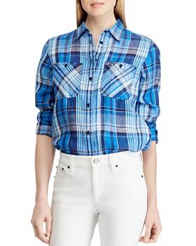 Ralph Lauren - Plaid Linen Shirt