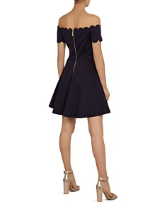 Ted Baker - Fellama Bardot Scalloped Fit-and-Flare Dress