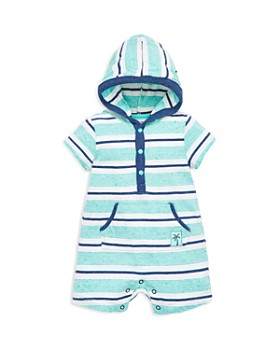 Little Me - Boys' Island Fun Hooded Romper - Baby