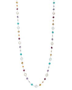 "IPPOLITA - Sterling Silver Lollipop Multi-Gemstone Lollitini Long Beaded Necklace, 36"""
