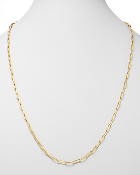 Roberto Coin - 18K Yellow Gold Long Link Chain Necklace, 33""